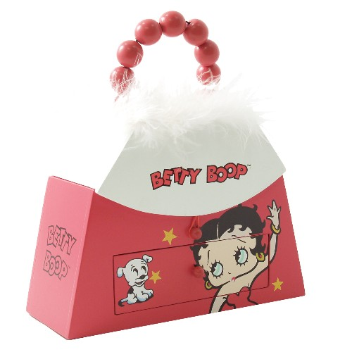 Betty Boop Wooden Purse-Shaped Trinket Box