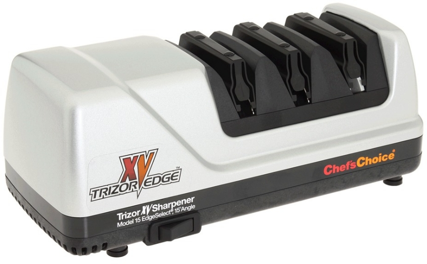Chef's Choice Brushed Metal EdgeSelect Model 15 Trizor XV Knife Sharpener