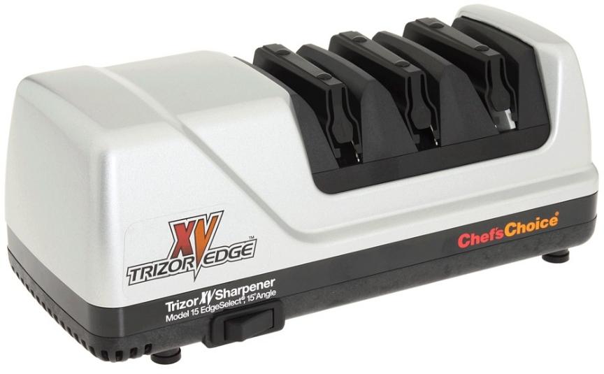 Chef's Choice Brushed Metal EdgeSelect Model 15 Trizor XV Knife Sharpener