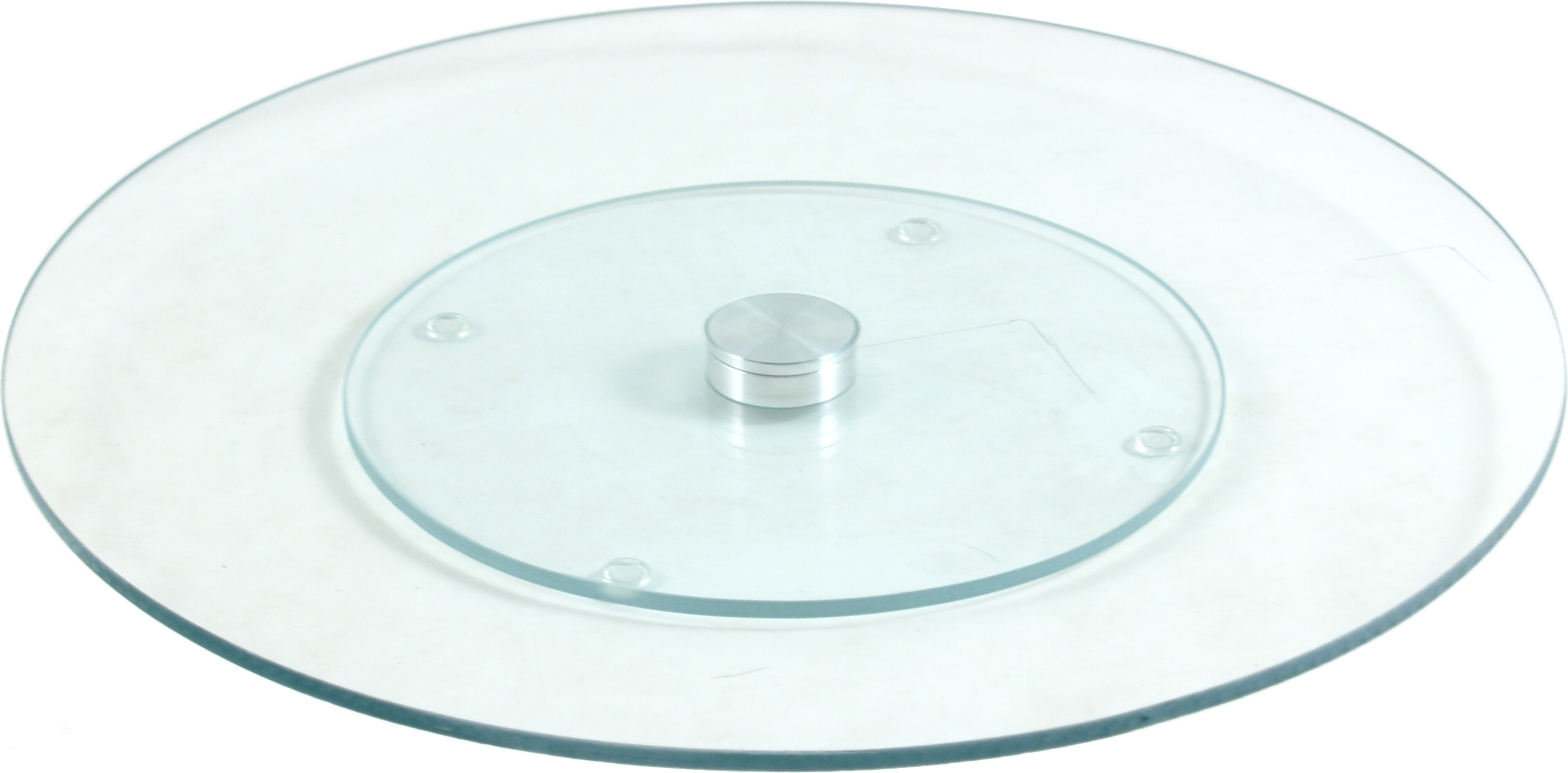 Glass Lazy Susan Rotating Tray, 13.75 Inch