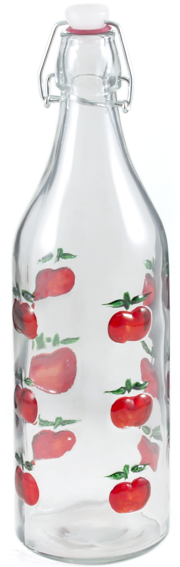 Glass Apple Beverage Bottle, 3.5 Inch