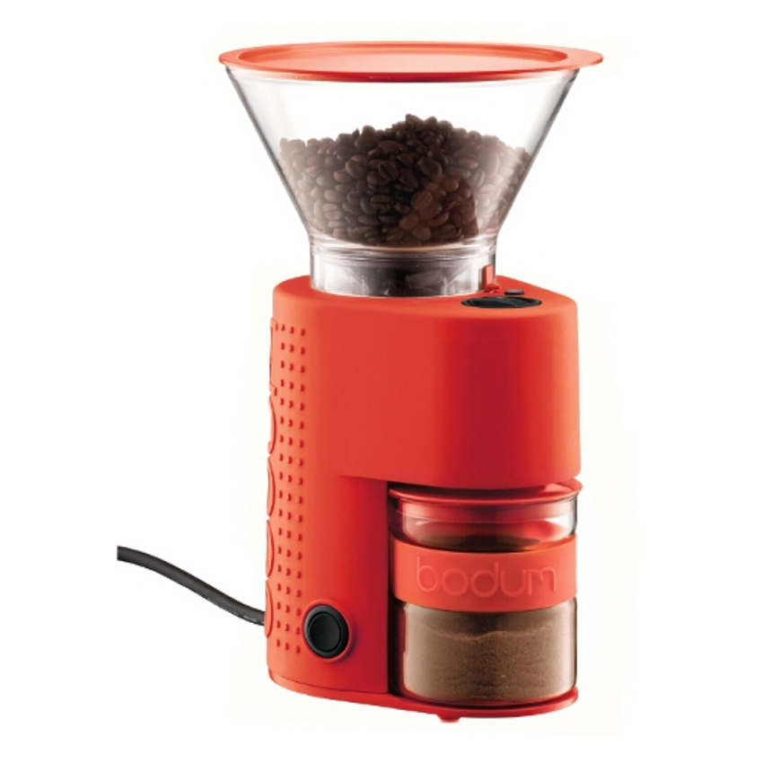 Bodum Bistro Red Electric Burr Coffee Grinder
