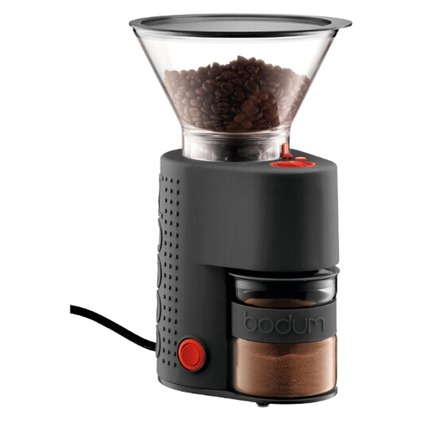 Bodum Bistro Black Electric Burr Coffee Grinder