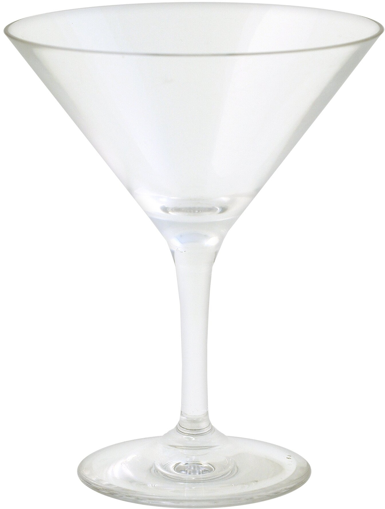 Strahl Design+ Contemporary Clear Martini Glass, 12 Ounce