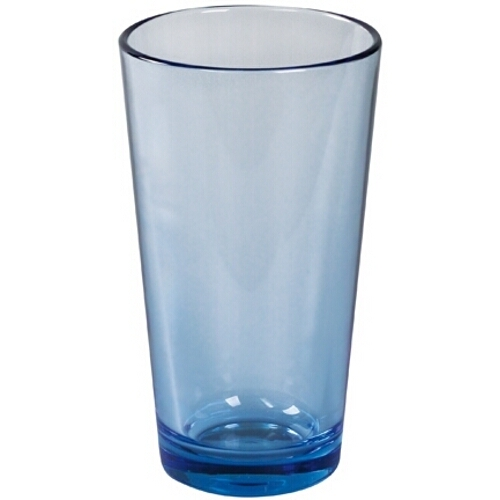 Strahl Design+ Contemporary Pacific Blue Mixing Glass, 16 Ounce