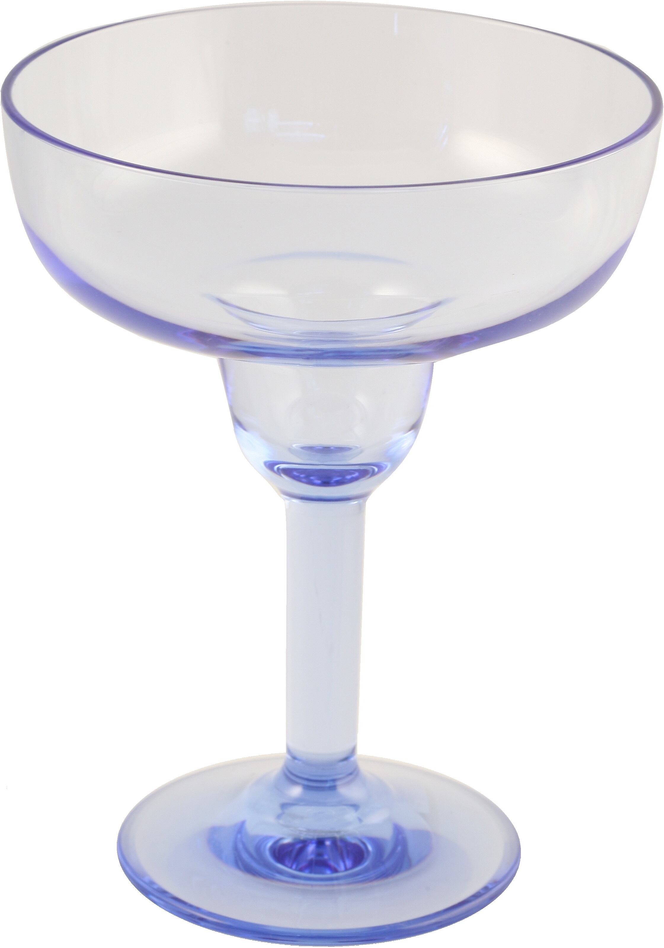 Strahl Design+ Contemporary Pacific Blue Margarita Glass, 16 Ounce