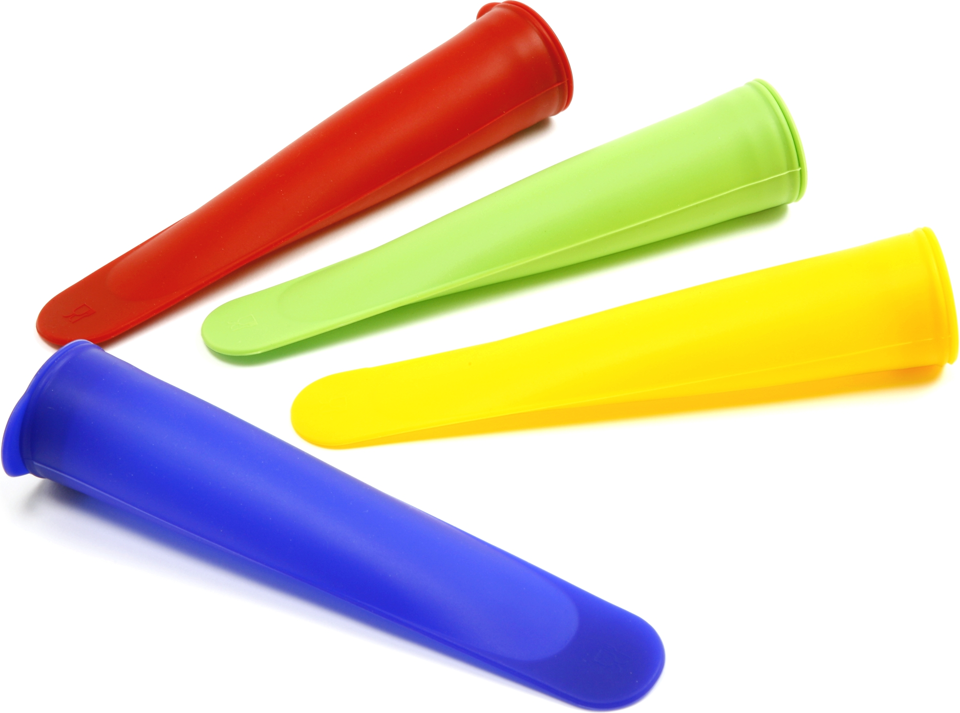 Norpro Multicolored Silicone Ice Pop Maker, Set of 4