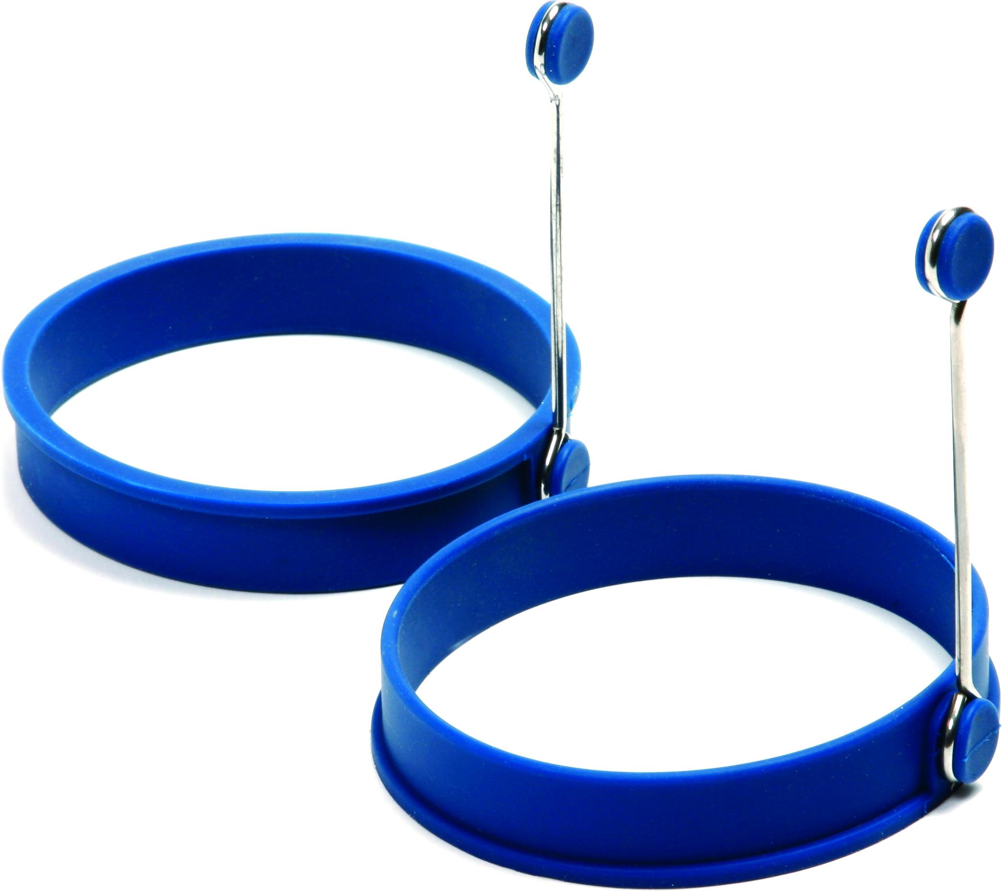 Norpro Blue Silicone Pancake Egg Ring, Set of 2
