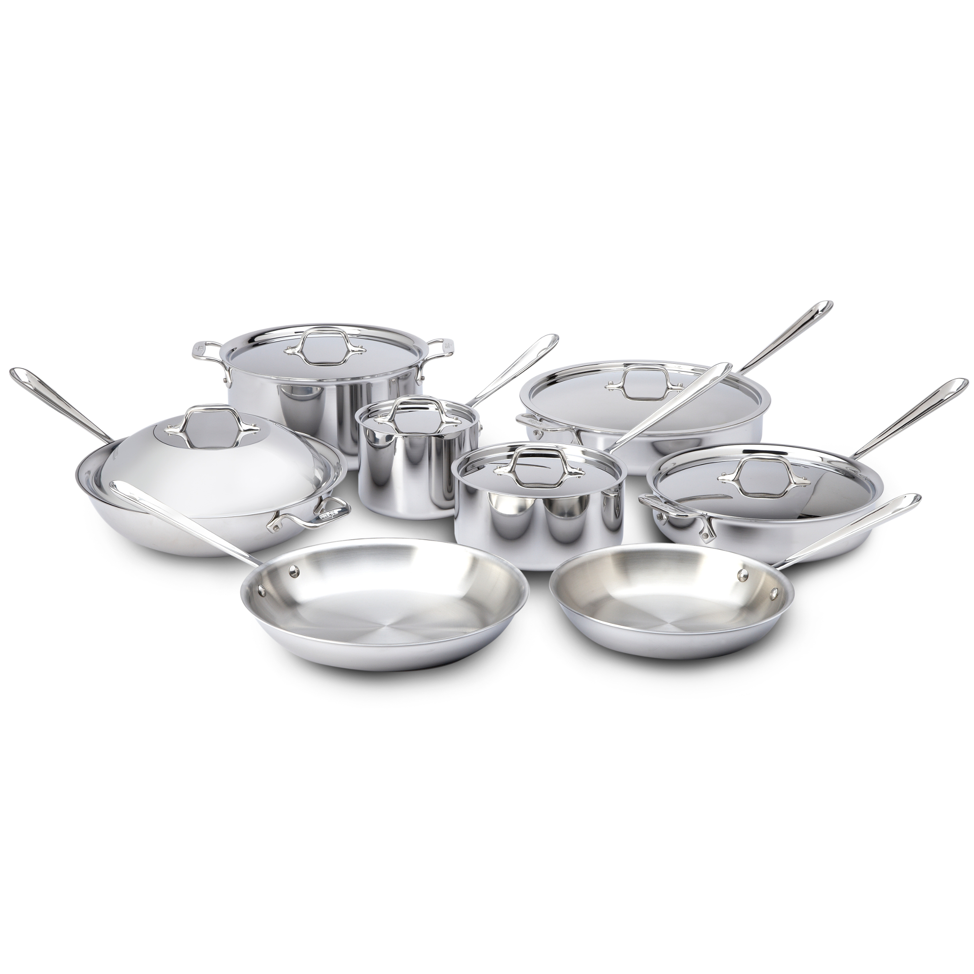 All-Clad 14 Piece 18/10 Stainless Steel Cookware Set