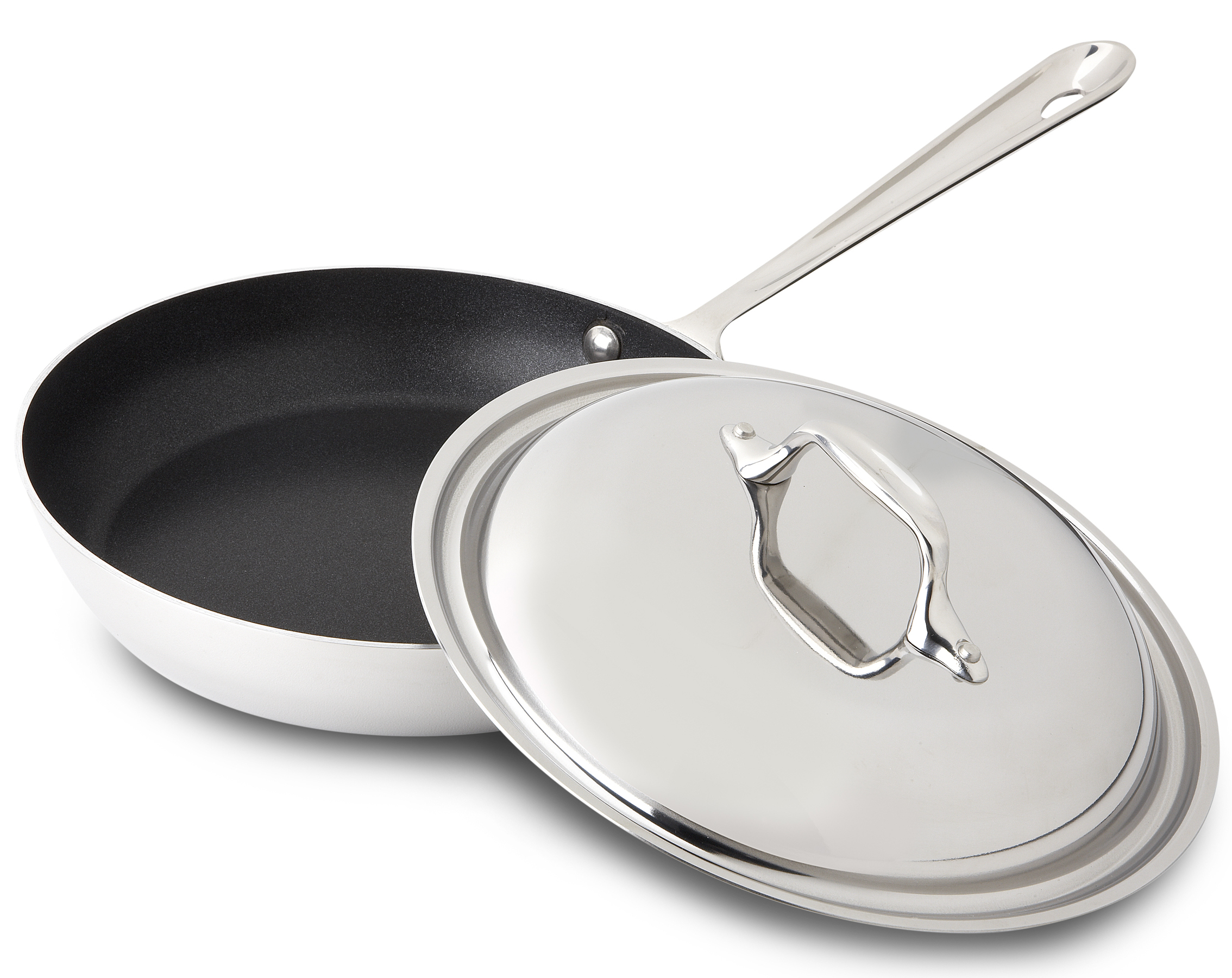 All-Clad 18/10 Stainless Steel Nonstick French Skillet with Domed Lid, 9 Inch