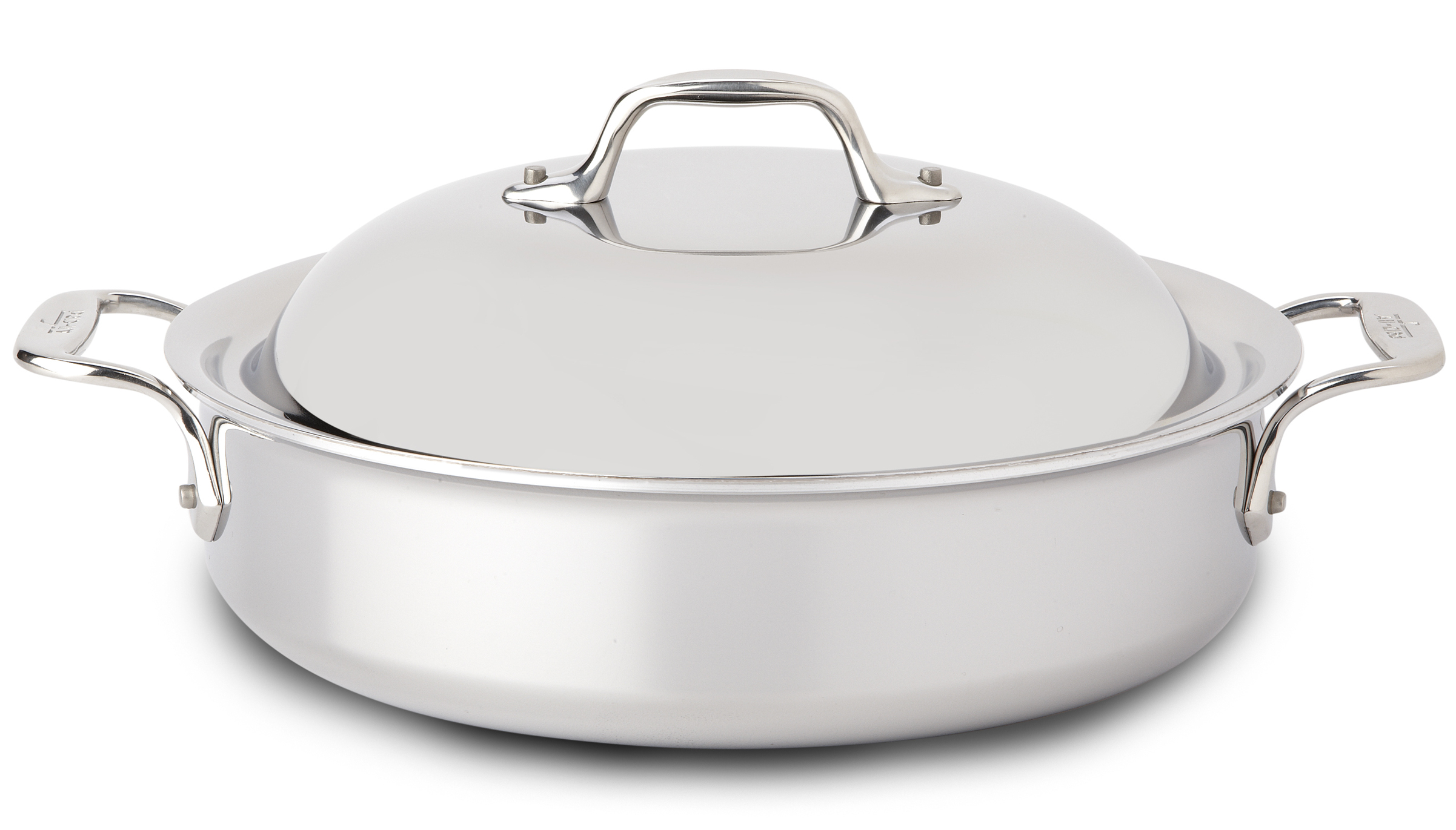 All-Clad Tri-Ply Stainless Steel Sauteuse Pan with Domed Lid, 4 Quart