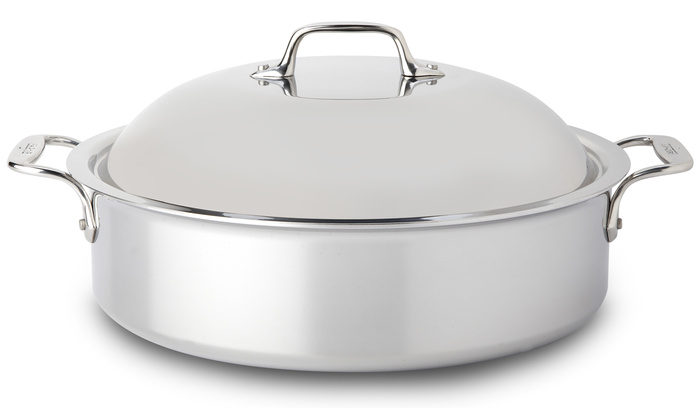 All-Clad Stainless Steel Braiser With Domed Lid and Rack, 6 Quart