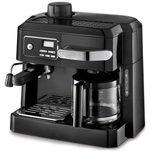 DeLonghi Black Combination Espresso and Drip Coffee Maker