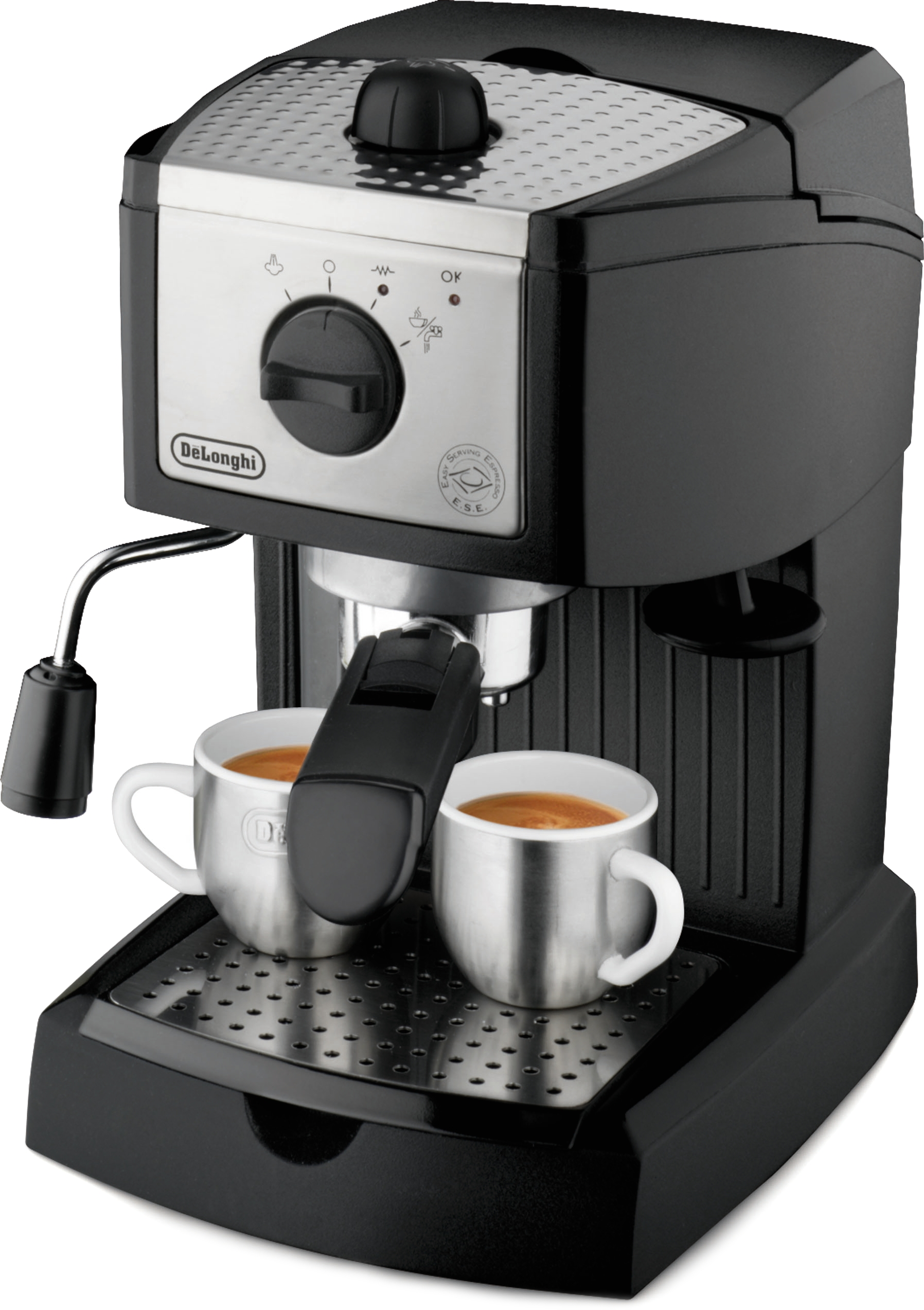 DeLonghi Black and Silver Pump Driven Espresso and Cappuccino Maker