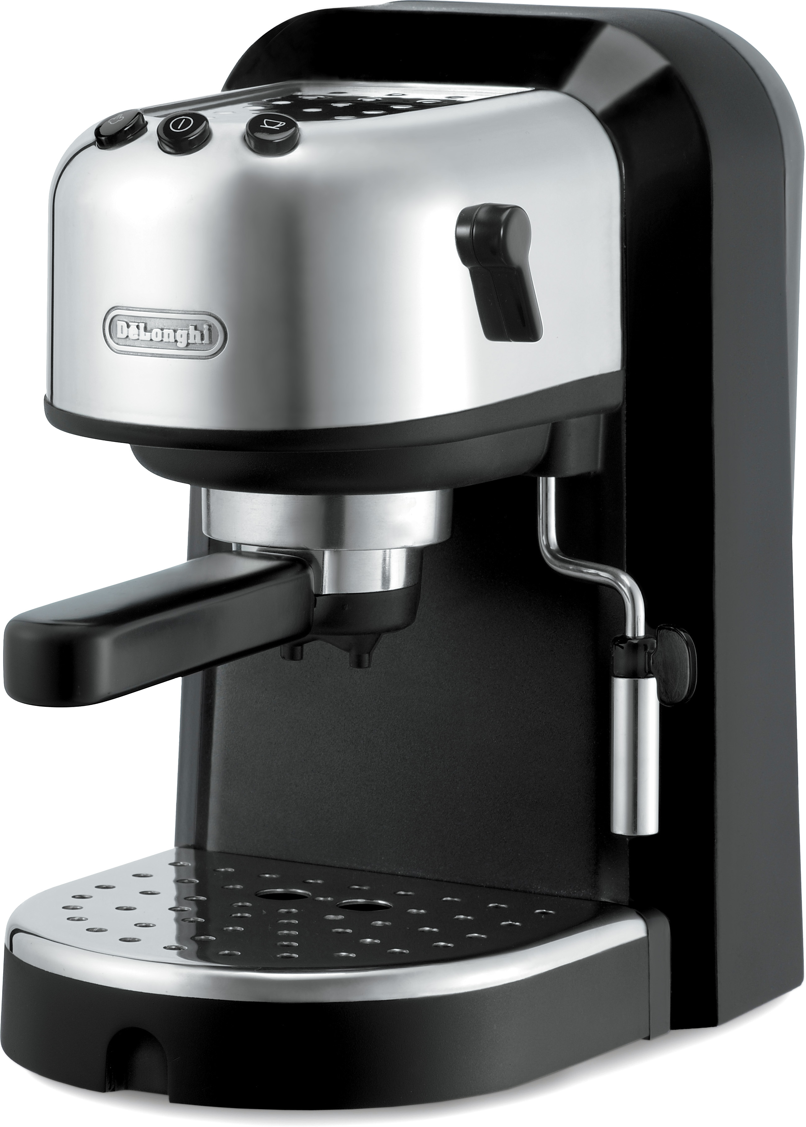 DeLonghi Black and Stainless Steel Pump Driven Espresso and Cappuccino Maker