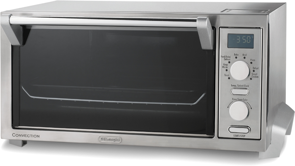 DeLonghi Brushed Stainless Steel Pizza Convection Oven