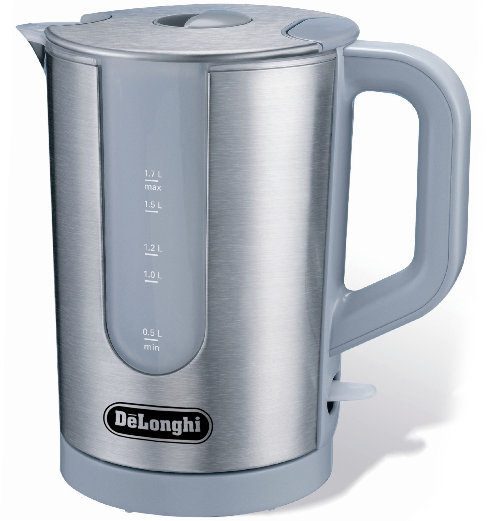 DeLonghi Stainless Steel Cordless Water Kettle, 60 Ounce