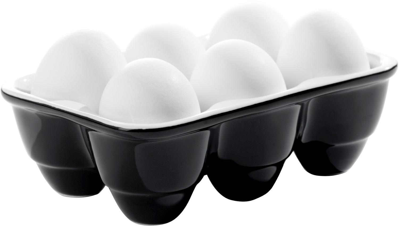 Sagaform Season Black and White Stoneware Boiled Egg Dipper