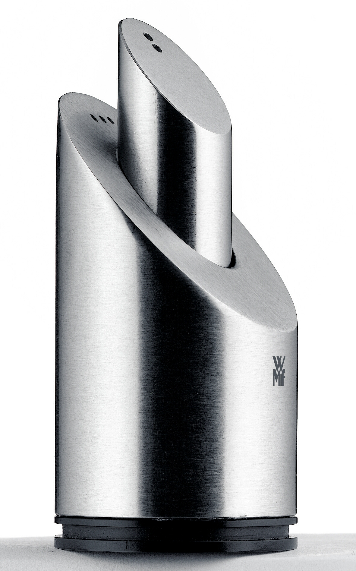 WMf 18/10 Stainless Steel 2-in-1 Cylinder Salt and Pepper Shaker