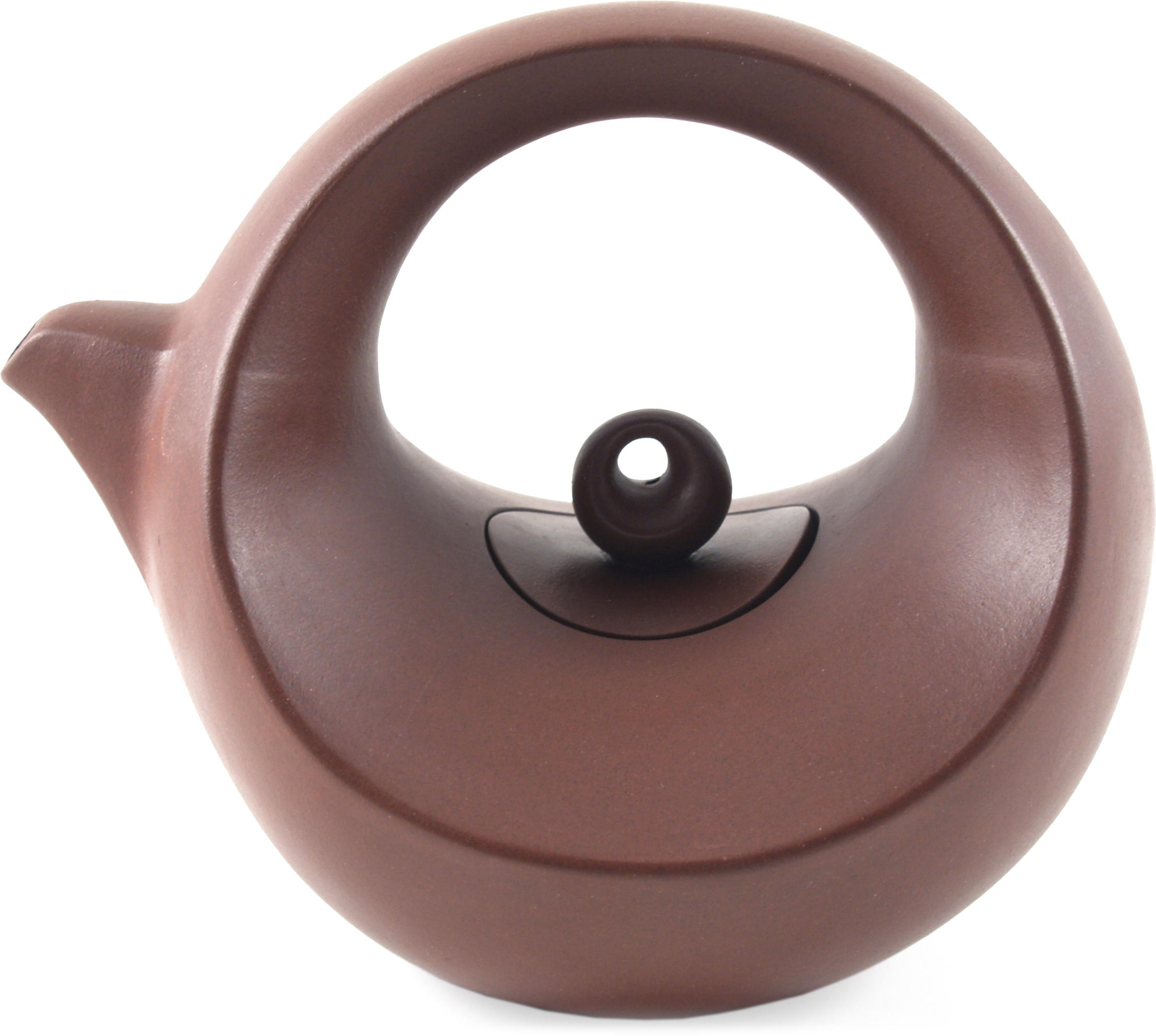 Brown Concentric Circle Yixing Teapot, 20 Ounce