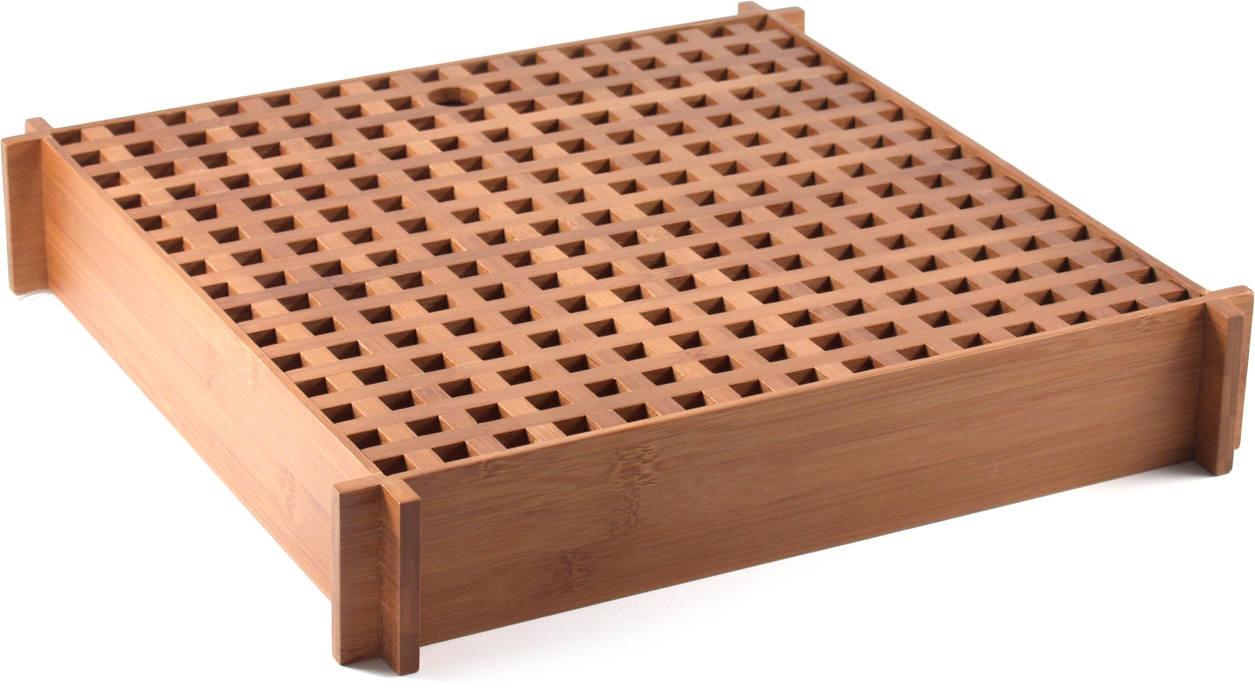 Bamboo Lattice Pattern Tea Tray