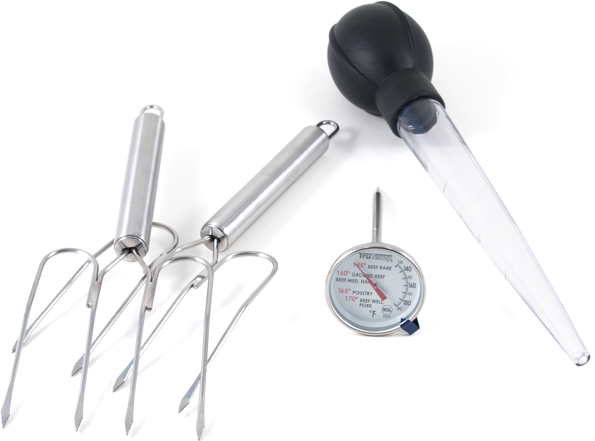 Taylor TruTemp Meat Thermometer, Lifters and Baster Set