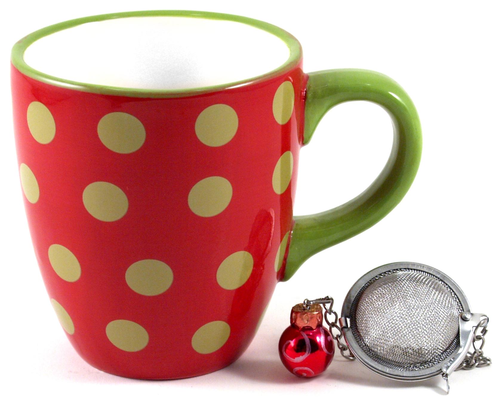 Boston Warehouse Ornament Tea Time Infusing Mug Set