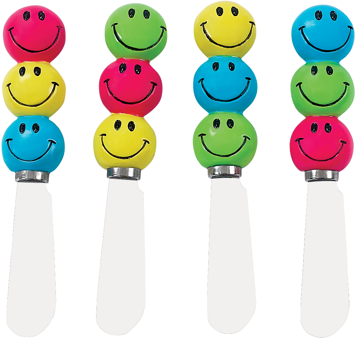Boston Warehouse Bright Happy Kitchen Spreader, Set of 4