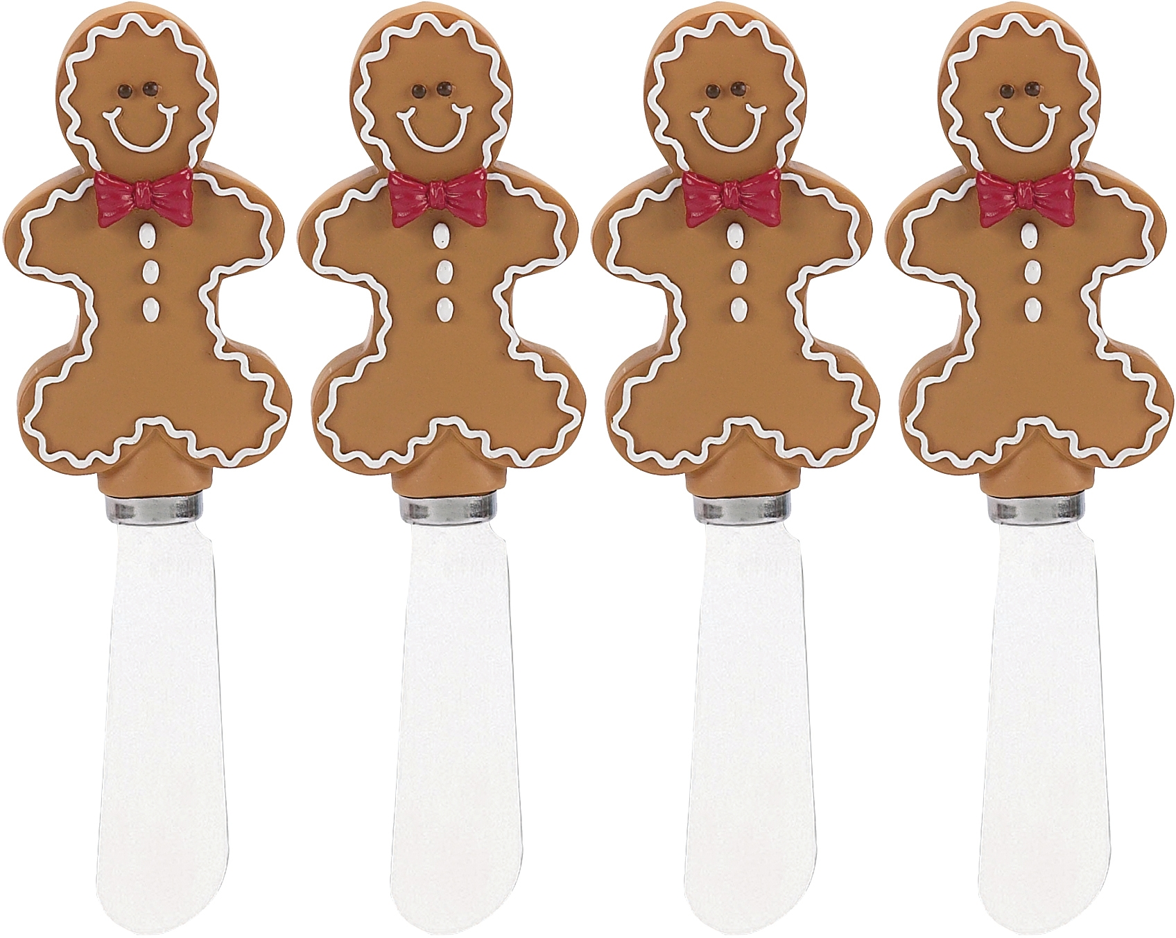 Boston Warehouse Sugar and Spice Gingerbread Spreader, Set of 4