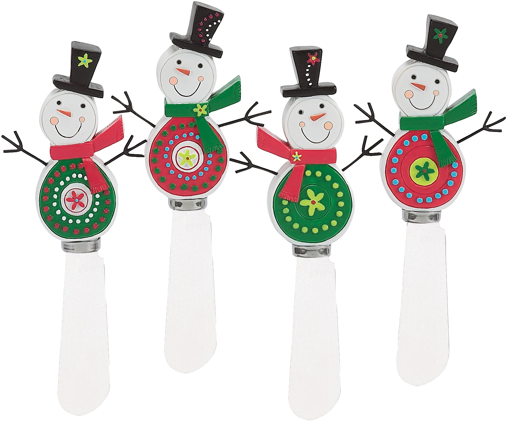 Boston Warehouse Merry Men Spreader, Set of 4