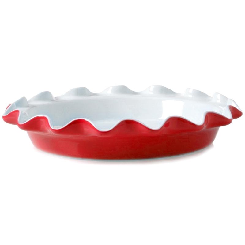 Rose's Red Ceramic Perfect Pie Plate