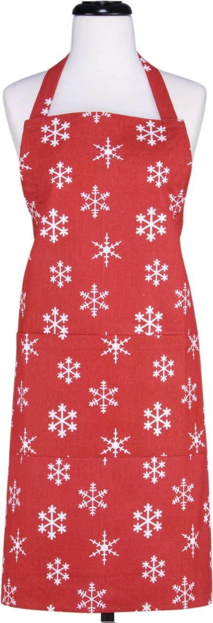 Gourmet Classics Red Snowflake Adult Apron