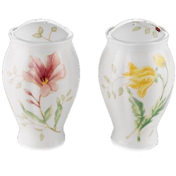 Lenox Butterfly Meadow Porcelain Salt and Pepper Shaker Set
