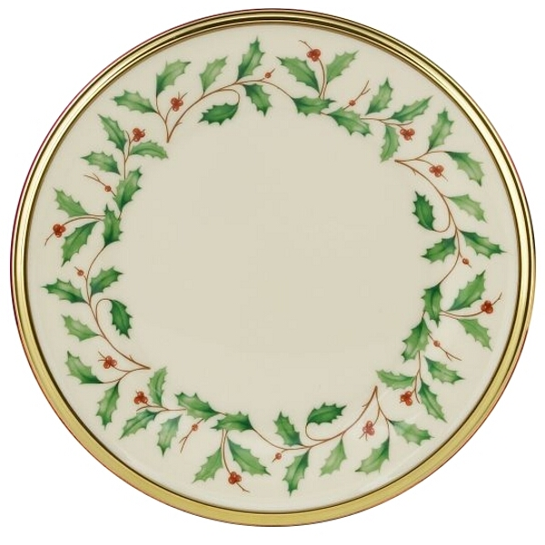 Lenox Bone China Holiday Bread and Butter Plate