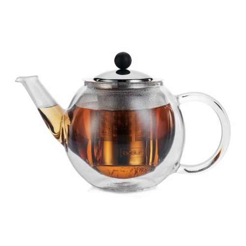 Bodum Bora Bora Double-Walled Glass Thermo Tea Press, 17 Ounce