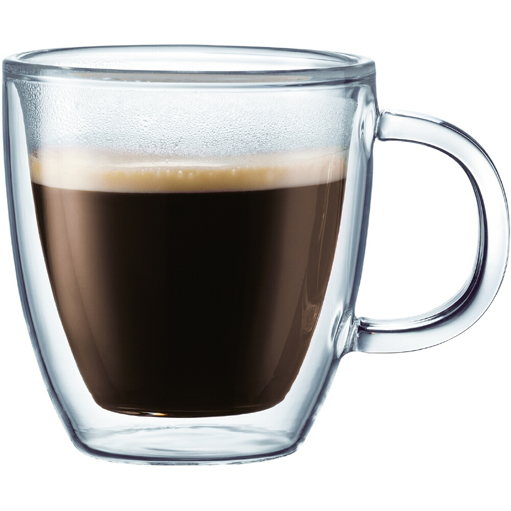Bodum Bistro Double-Walled Transparent 5 Ounce Espresso Mug, Set of 2