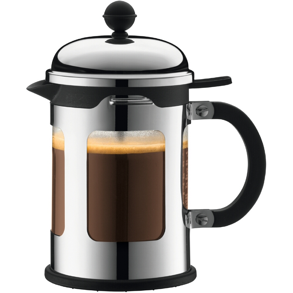 Bodum Chambord Stainless Steel French Press Coffee Maker, 4 Cup