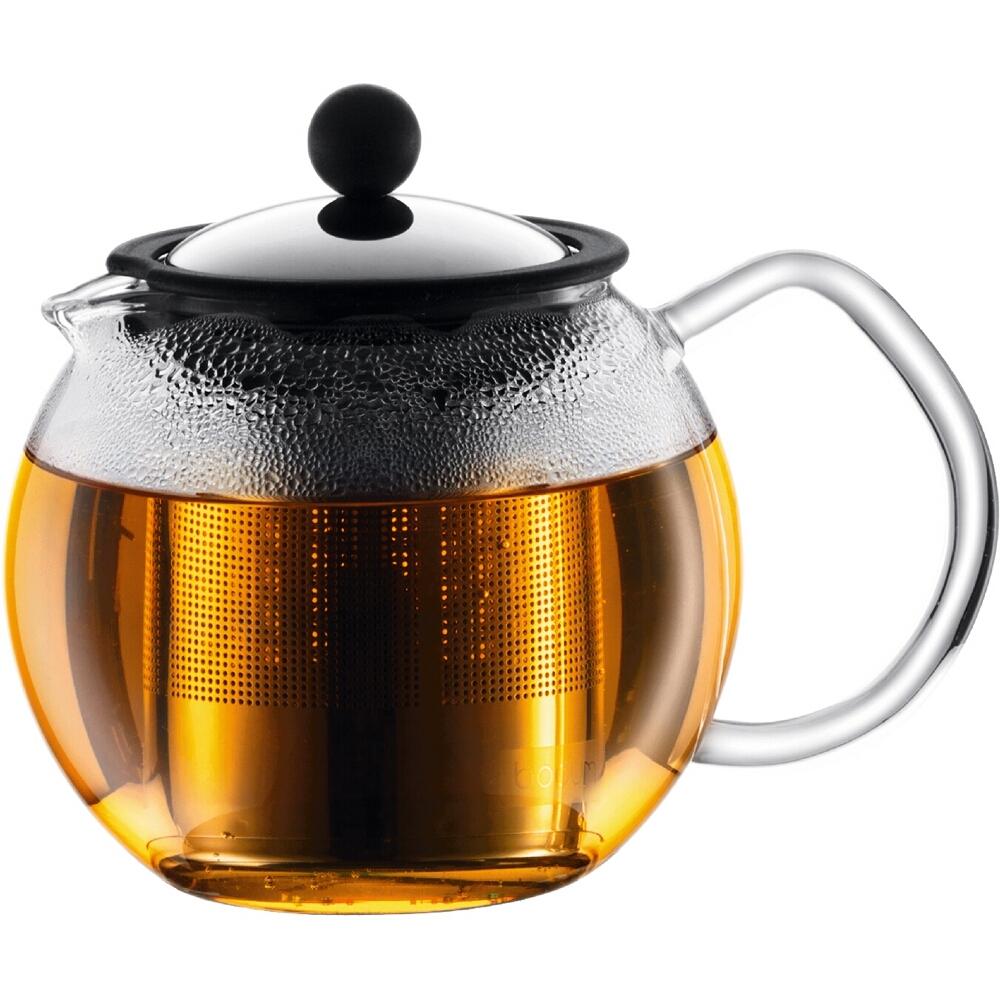 Bodum Assam Glass Tea Press with Stainless Steel Filter, 17 Ounce