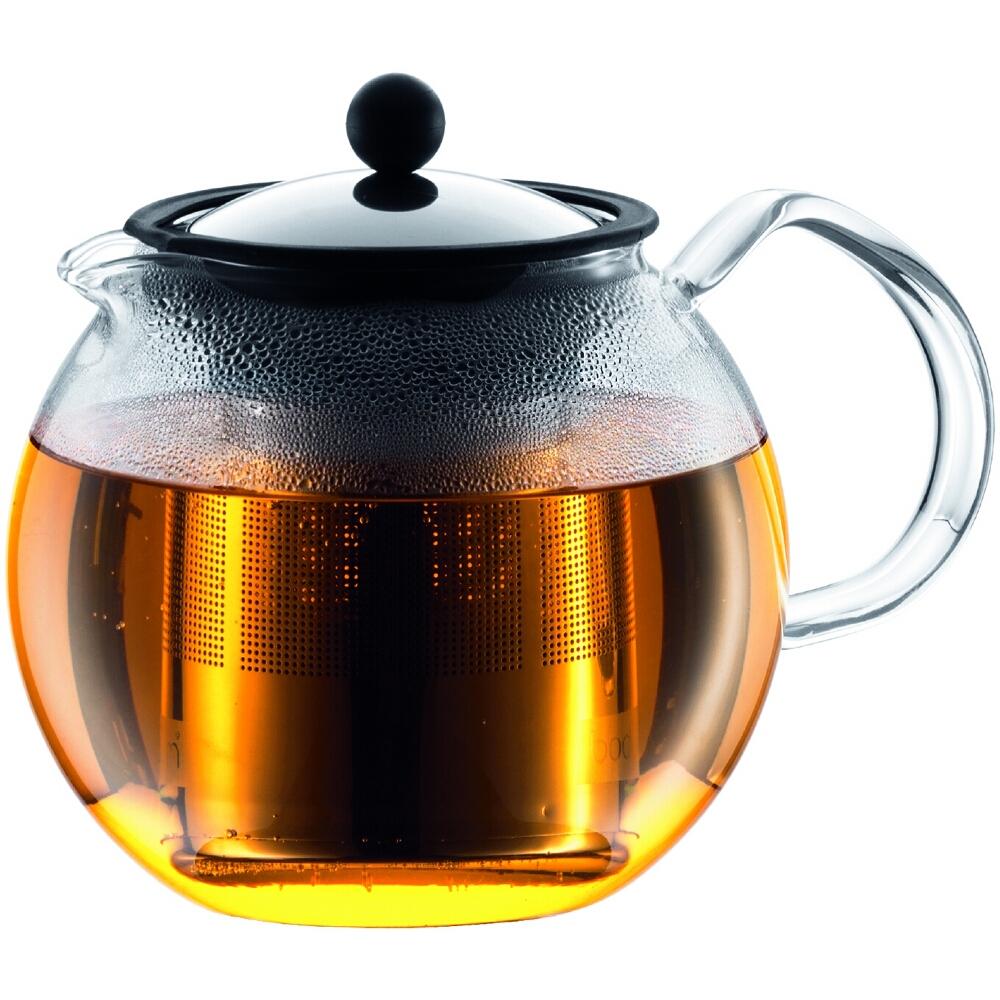 Bodum Assam Glass Tea Press with Stainless Steel Filter, 51 Ounce