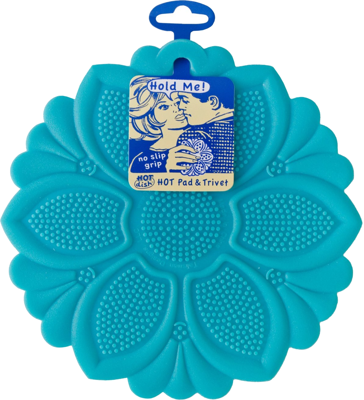 Talisman Designs Blue Silicone No-Slip Grip Hot Pad and Trivet
