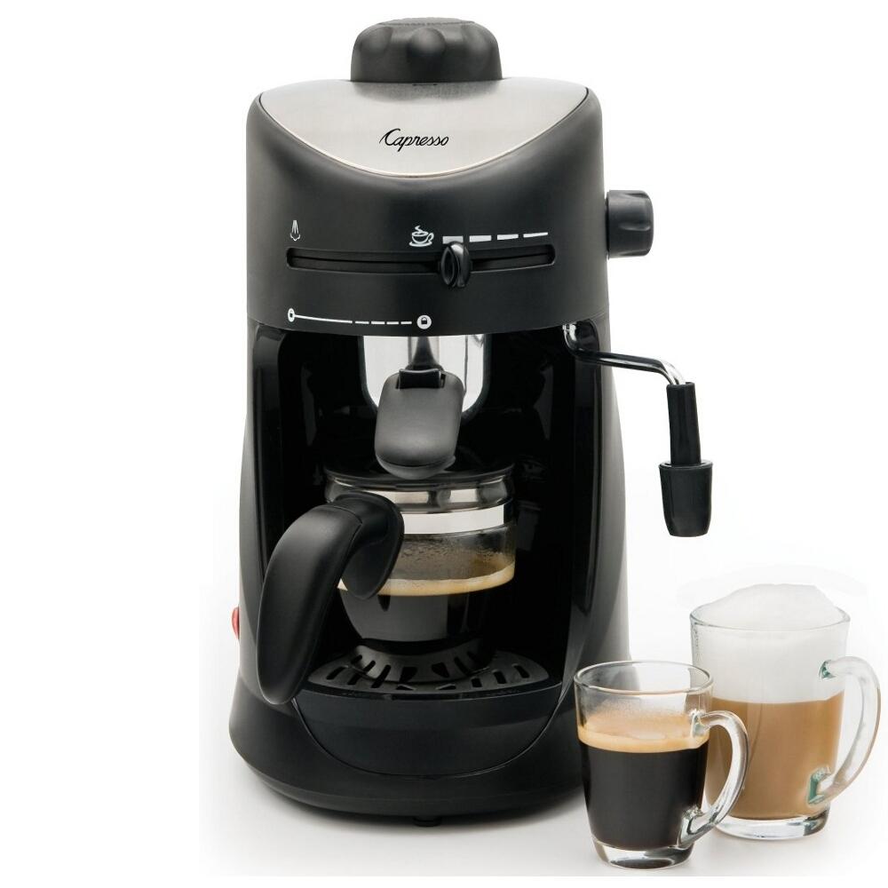 Capresso Black Espresso and Cappuccino Machine, 4 Cup