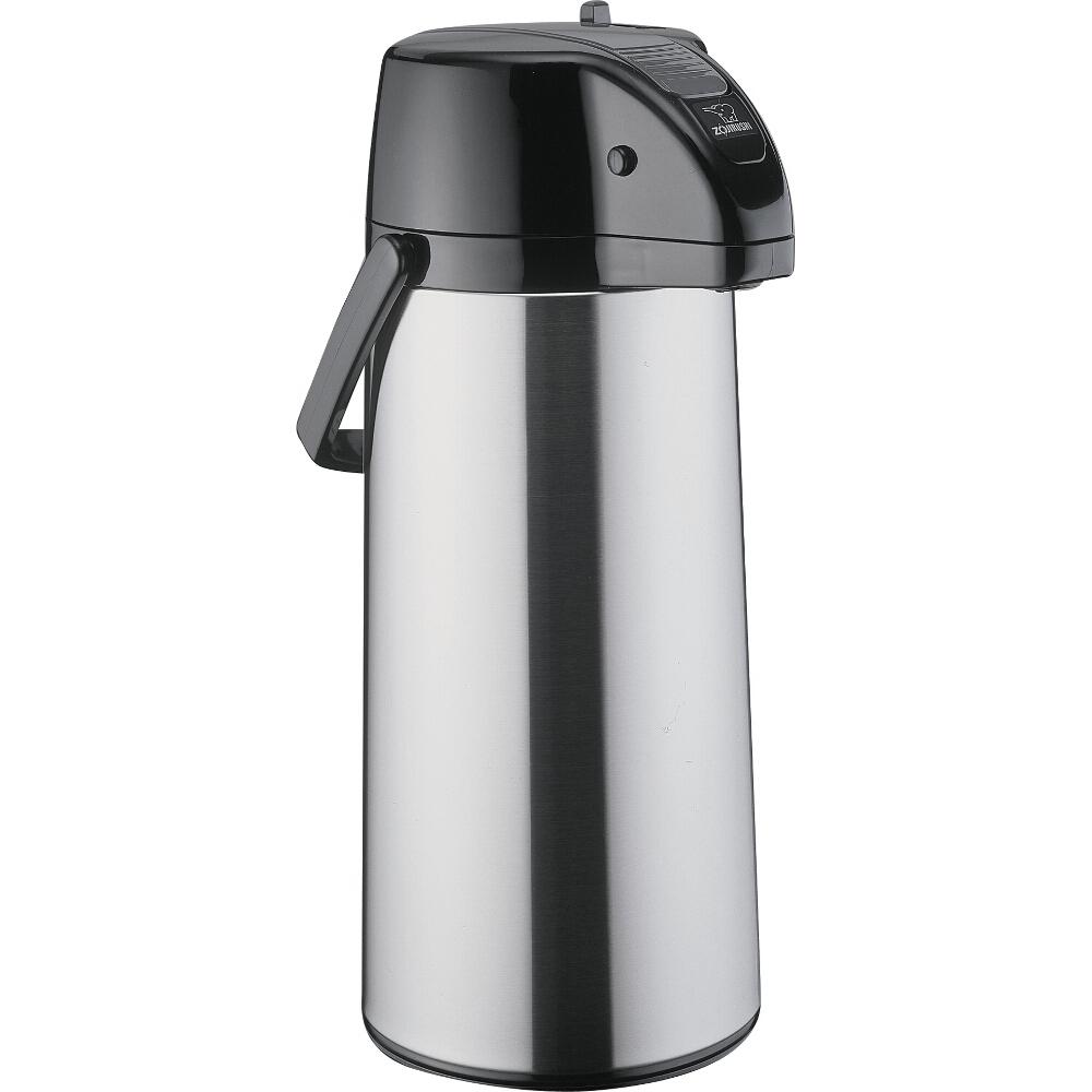 Zojirushi Airpot Stainless Steel Lever Brew Thru Coffee Server, 2.25 Liter