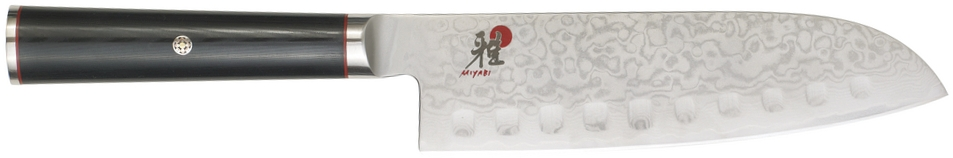 Miyabi Kaizen Granton Hollow Edge Santoku Knife, 7 Inch