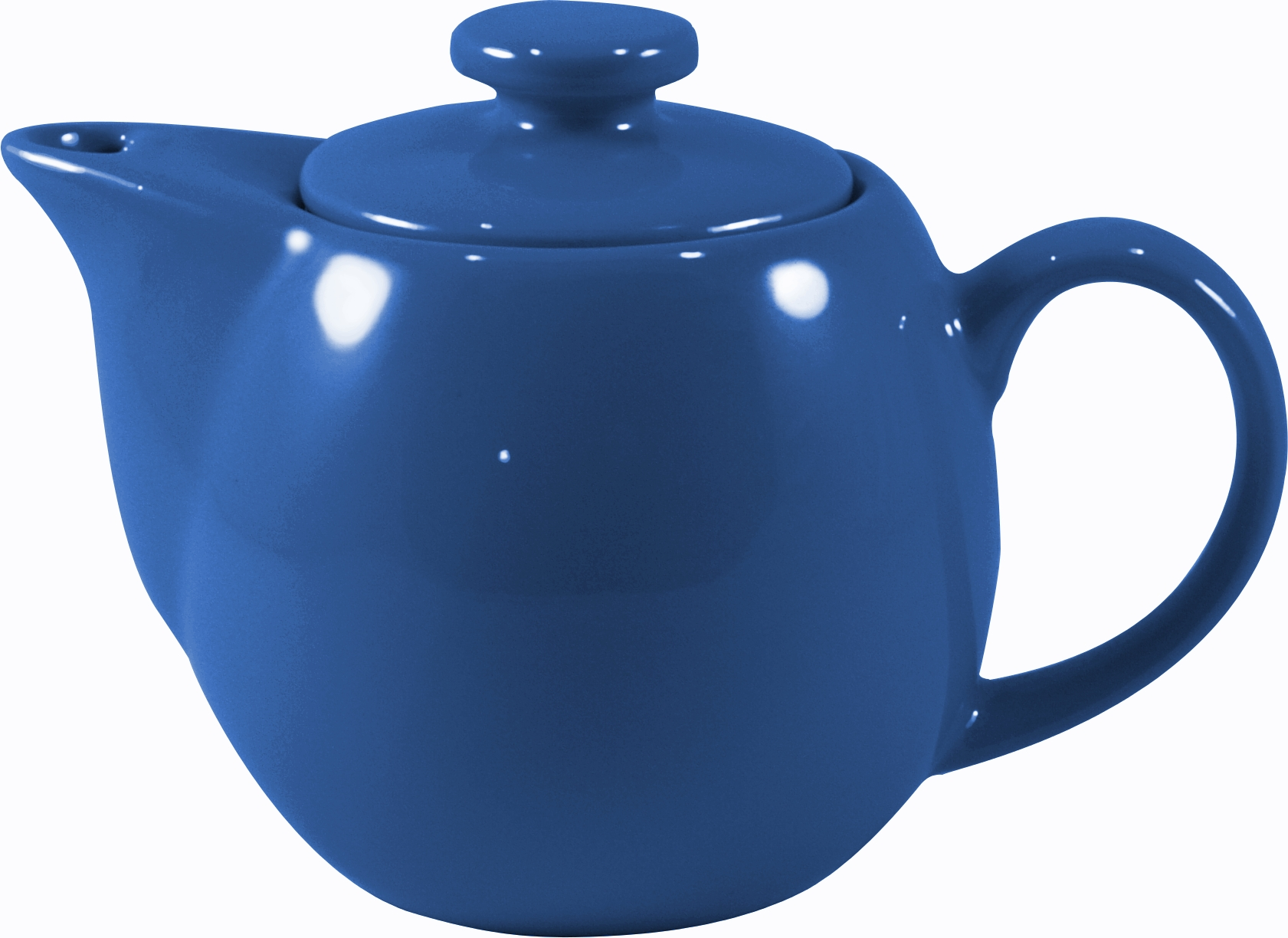OmniWare Teaz Blue Stoneware 14 Ounce Teapot with Stainless Steel Mesh Infuser