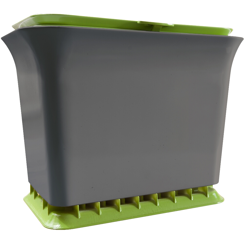 Full Circle Slate and Green Fresh Air Kitchen Compost Collector