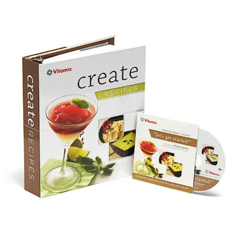 """Vitamix """"Create"""" Recipe Book with Chef Michael Symon Instructional DVD for CIA Series Machines"""