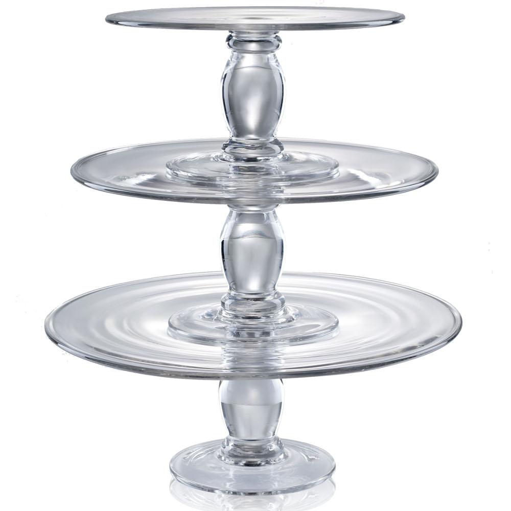 Artland Simplicity 3 Piece Tiered Glass Cake Stand