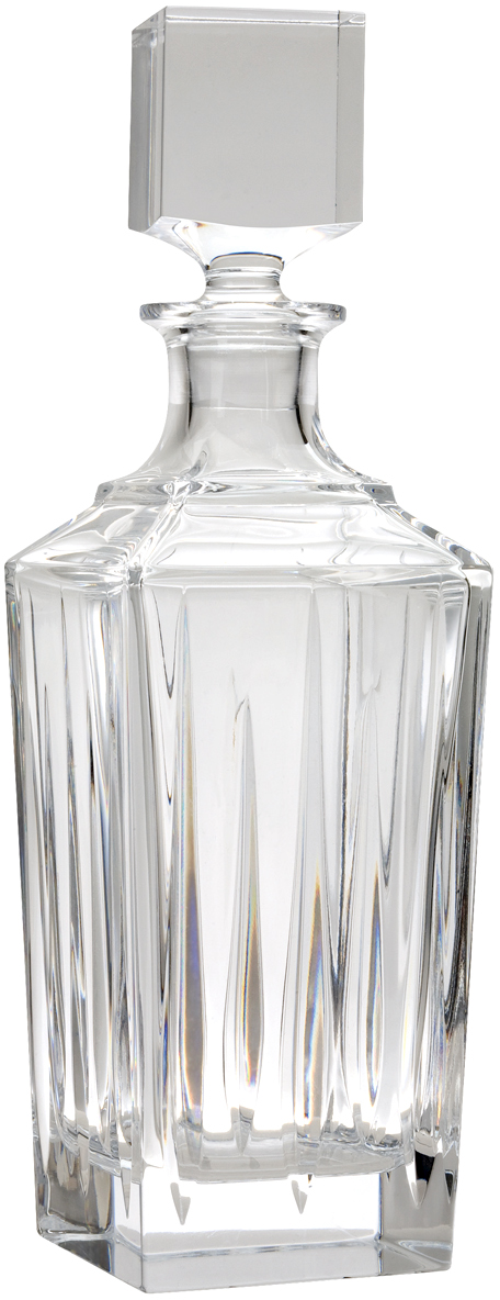 Reed and Barton Soho 24 Ounce Leaded Crystal Glass Alcohol Decanter