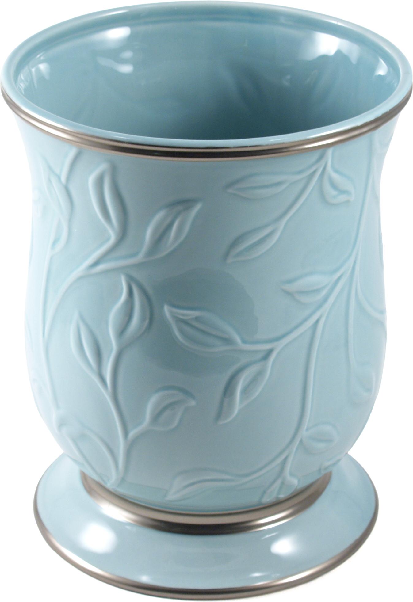 Saturday Knight LTD Seafoam Blue Ceramic Waste Bin