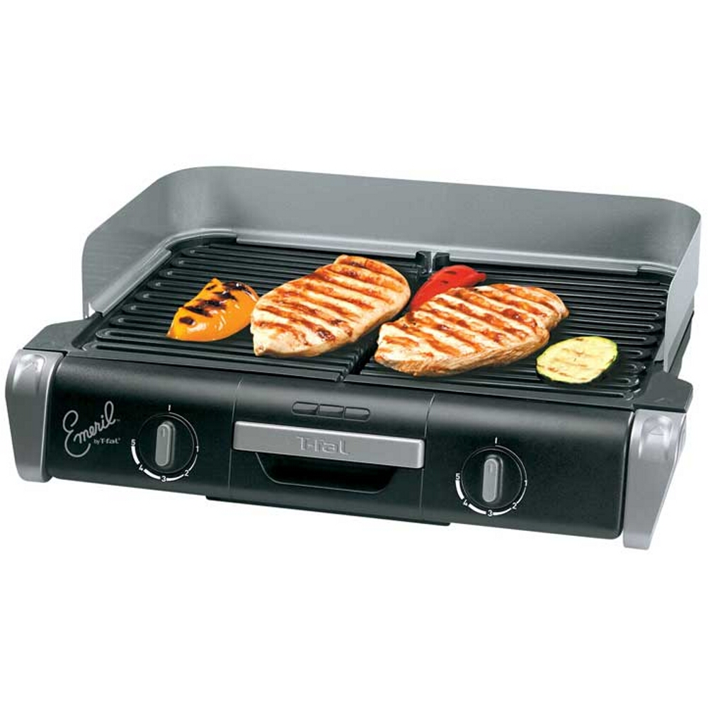 Emerilware Electric XL Grill with 2 Removable Nonstick Grill Plates, 20 Inch